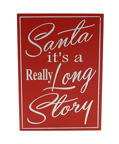 Party Explosions Santa IT 'S A wirklich Lange Story Christmas Box Sign