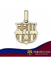 Bouclier pendentif F.C. Barcelona or 18k projet de loi moyen [6515]