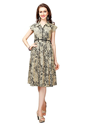 Glory Sarees Women's Jute Dresses(clothix14_Beige)