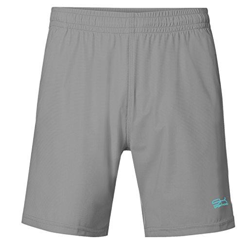 Sportkind Jungen & Herren Tennis/Training/Sport Shorts Regular, steingrau, Gr. L