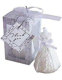 NiceButy Novia Blanco de la Boda de la Vela Estilo de decoración del hogar Tallado Vela de Regalo decoración de la Boda Productos para el hogar Chica Femenina