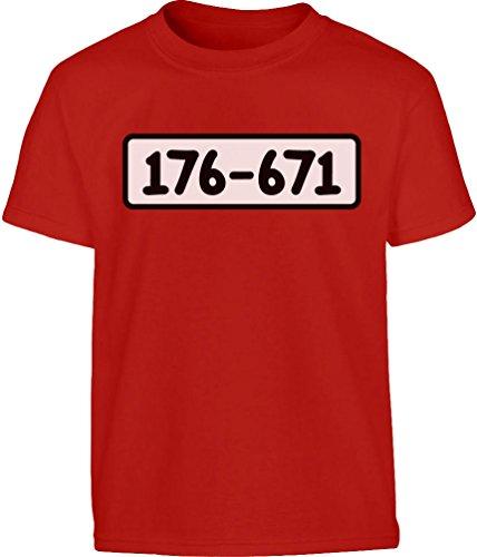 KIDS Panzerknacker Banditen Bande Kostüm Kleinkind Kinder T-Shirt - Gr. 86-128 86/92 (1-2J) Rot (Kinder-kleinkind-shirt)