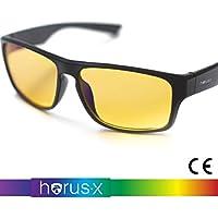 Horus X® PC Gaming Brille mit blaulichtfilter - Stärkster blaulichtfilter auf dem Markt >90% - blaulichtfilter Brille für Gamer - computerbrille - Anti Müdigkeit, Anti blaulicht