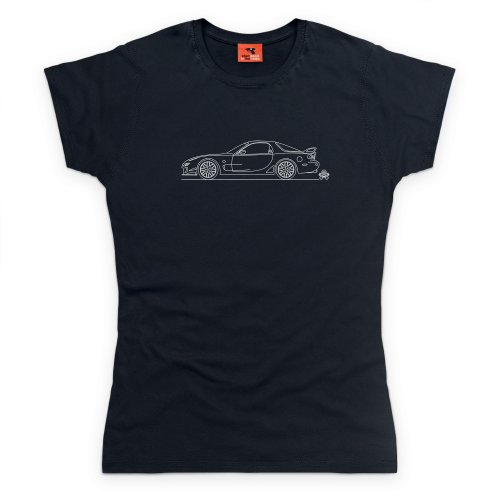 PistonHeads RX Seven FD T-Shirt, Damen Schwarz