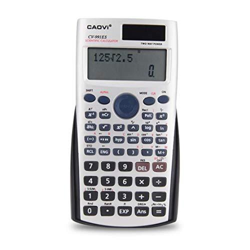 Handheld Professional Multifunktions-LCD-2-Zeilen-Display Wissenschaftlicher Taschenrechner Solarbetriebene Buchhaltung Mathematischer Taschenrechner (2 Zeile Lcd)