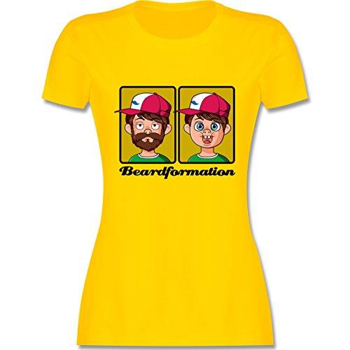 Statement Shirts - Beardformation - tailliertes Premium T-Shirt mit Rundhalsausschnitt für Damen Gelb