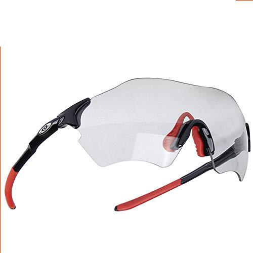 Melodycp Fahrrad-Sonnenbrille, intelligente Farbe, transparent, zum Angeln, Skifahren, Outdoor, Camping, in der Wildnis, leicht, vielseitig verwendbar