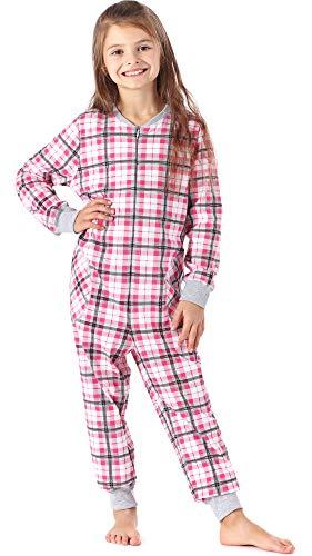 Merry style pigiama intero bambina e ragazza ms10-186 (rosa quadri, 134-140)