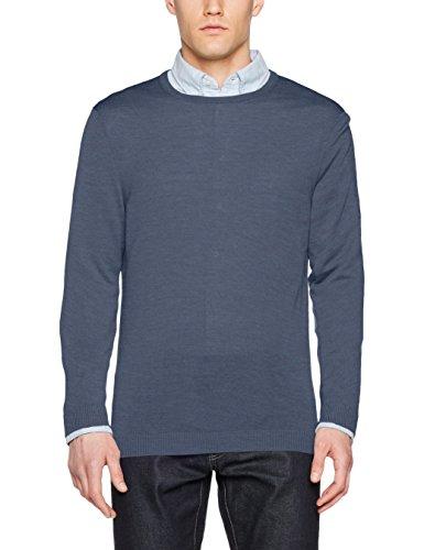 Maerz Herren Pullover Blau (Nimes Blue 378)