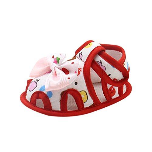 Rawdah Enfant Sandal Boot Toddler Baby Girl ÉTé Bracelet à Boucle Princesse Bordé Chaussures Avec Fermeture à Glissière Rouge