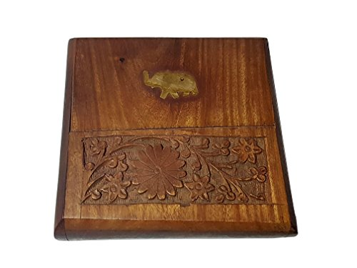 Cigarette Case - Premium Quality Walnut Wood  available at amazon for Rs.240