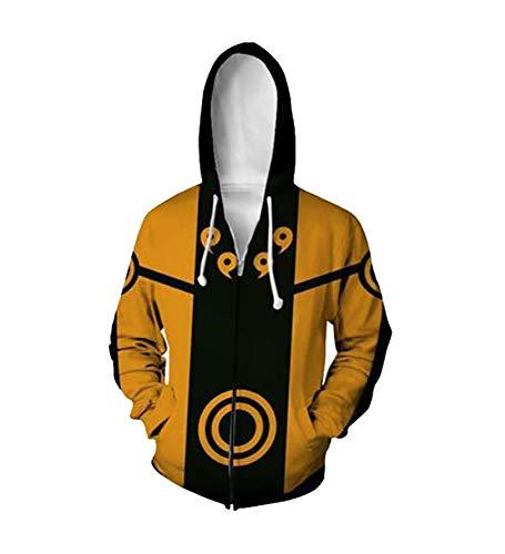 Nine Tails Kostüm - Agaruu Naruto Cosplay Kapuzenjacke Herren Damen
