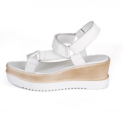 Sandálias Tornozelo De Branco Menina Poliuretano Adee Rotador Velcro axqIv6