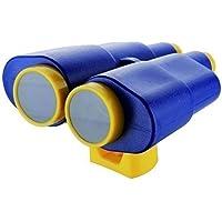 Grande Prismáticos para área de juegos, caño giratorio y rotativa - azul