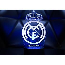 Oficial Escudo del Real Madrid CF Lámpara original accesorios de 2017- 2018 y mejor regalo para bebe niño kids hombre mujer Mejor decoracion para hogar