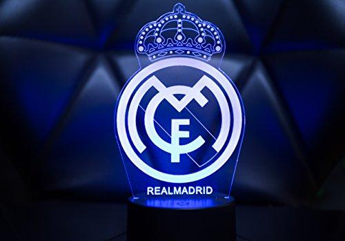 71283ace8 Oficial Escudo del Real Madrid CF Lámpara original accesorios de 2017- 2018  y mejor regalo