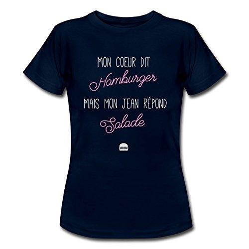 citation-regime-mon-coeur-dit-hamburger-t-shirt-femme-de-spreadshirtr-l-marine
