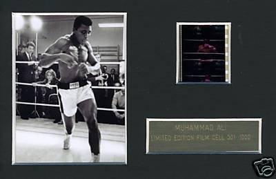 Muhammad Ali Boxing Memorabilia Limited Edition Film Cell m