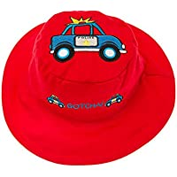 Flapjacks 2in1reversibile per bambini estate hats-police/truck-medium