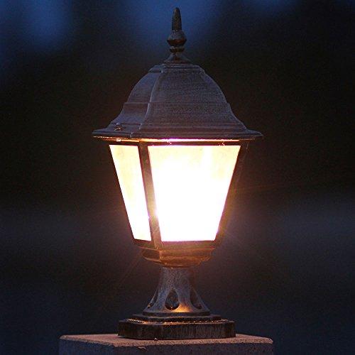 HJZY European Garden Post Lamp Columna Faros Park Door Pathway Lighting  Decking U0026 Patio One