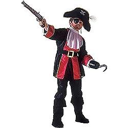 Widmann WDM38836 - Costume Per Bambini Pirata Capitan Uncino (128 cm/5-7 Anni ), Nero, XXS
