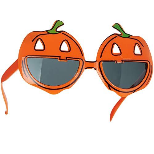 dressforfun 302778 - Set di Accessori Travestimento Halloween, Occhiali Dcherzosi Zucca ridente