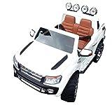 SL Lifestyle Kinderauto Elektro Ford Ranger Vollausstattung R/C Weiss - Mit großem 12V/10Ah Akku 2 Motoren; Kinderautos elektrisch mit original Lizenz