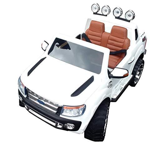 SL Lifestyle Kinderauto Elektro Ford Ranger Vollausstattung R/C Weiss - Mit großem 12V/10Ah Akku 2 Motoren; Kinderautos elektrisch mit original Lizenz*