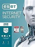 ESET Internet Security 2020   Für 3 Geräte   1 Jahr Virenschutz   Für Windows (10, 8, 7 und Vista)   Download