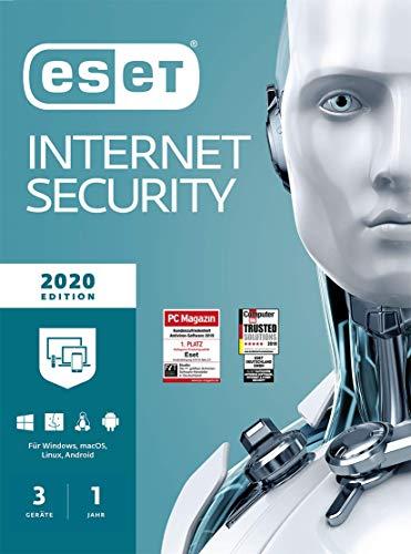 ESET Internet Security 2020 | Für 3 Geräte | 1 Jahr Virenschutz | Für Windows (10, 8, 7 und Vista) | Download