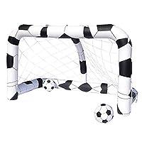 """Confezione del prodotto: imballo standardDescrizione del prodottoInflatable Soccer Net assicurerà ai bambini di segnare più volte gli obiettivi! Completa di due palloni gonfiabili da 14 """", i bambini possono perfezionare il tiro mentre il loro..."""