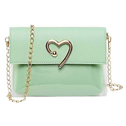 hsy Handtasche - Fashion Lady Shoulders Jelly Pack Geldbörse Handytasche (Color : Green) -