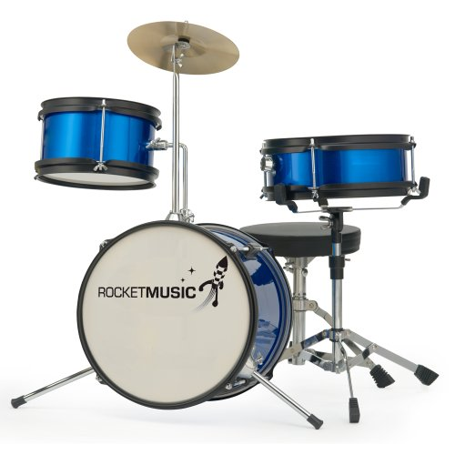 Rocket Music DKJ01BL - Batería infantil, color azul