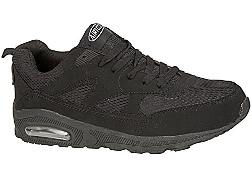 Airtech Baskets de running pour femme All Black