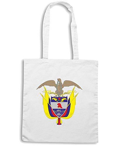 T-Shirtshock - Borsa Shopping TM0071 Colombia citta Bianco