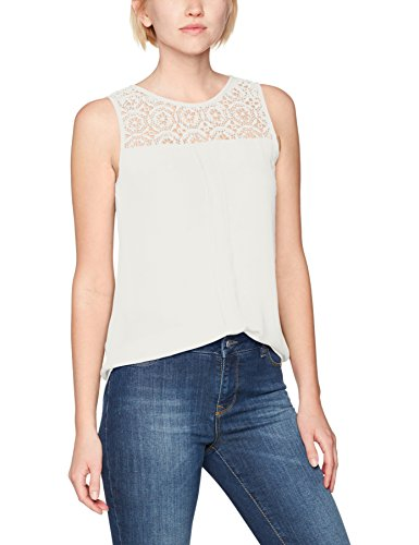 ONLY Damen Onlvenice S/L Lace Top Noos Wvn, Weiß (Cloud Dancer Cloud Dancer), 34