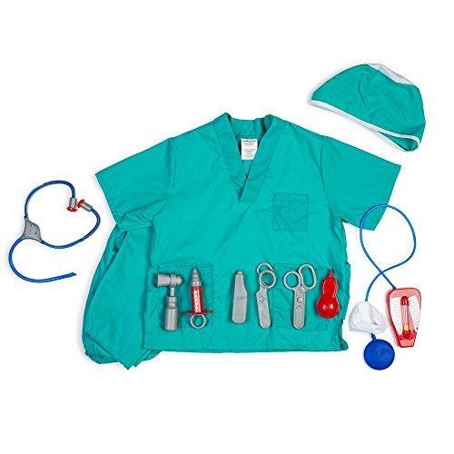 Kit Arzt Kind Kostüm - Dress Up America Kinder Chirurg Rollenspiel Ankleiden Set