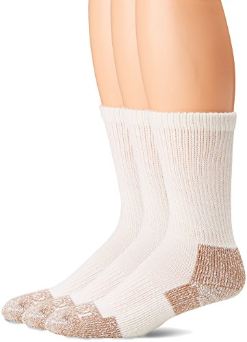 Terramar Geruch Block, verstärkte Ferse/Zehen, Stahlkappe Socken (3Stück), Herren, weiß (Block-ferse 3)