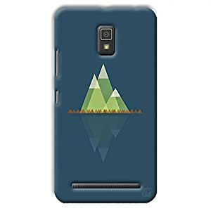 yP Green Mountains Design Hard Back Case Cover for Lenovo A6600 Plus