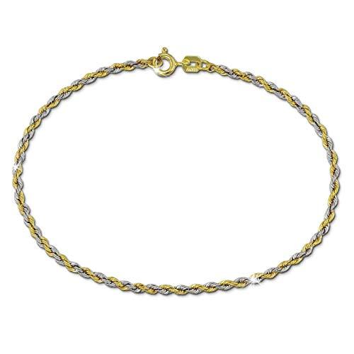SilberDream 19cm Damen Armband Zopf 8 Karat 333er Echt Gold bicolor GDA0529T 333 Zopf