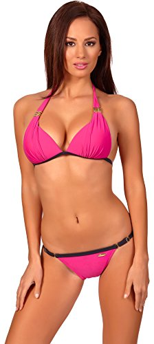 aQuarilla Trajes de Baño 2 Piezas Bikini Ropa Playa Mujer 1C1P5LC4 (Rosa, 36)