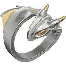 Anillo para mujer de dragón platino