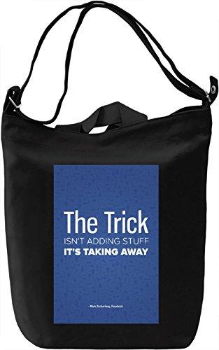 Preisvergleich Produktbild Zuckerberg quote Leinwand Tagestasche Canvas Day Bag| 100% Premium Cotton Canvas| DTG Printing|