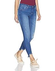 Allen Solly Womens Slim Jeans (AWDN517U00793_Medium Blue Solid_76)