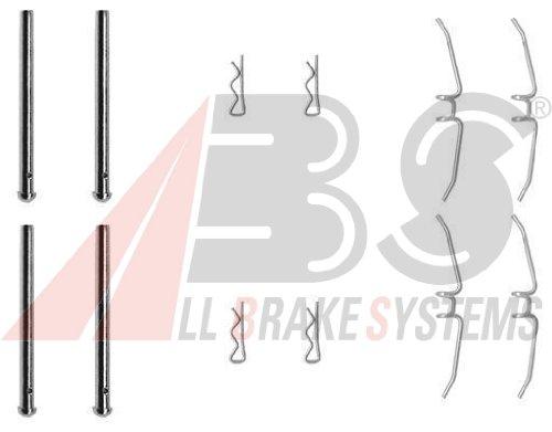 Preisvergleich Produktbild ABS 0901Q Zubehörsatz, Scheibenbremsbelag