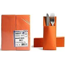 Alvotex Lot de 50 Serviettes Airlaid Orange