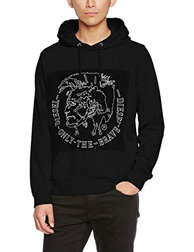 Diesel Pullover (Diesel Herren T-Shirt 00szep, Schwarz (Black 0IAEG 900), Large)