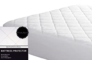 "Olivia Rocco Quilted Extra Deep Mattress Protector, Hotel Quality Luxury Fitted Mattress Protector's 12"" deep"