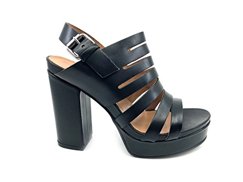 Janet Sport 41900 Sandalo Donna Papaya Nero in Pelle Black, 39 MainApps
