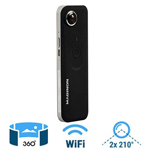 Maginon Video Youtube/Facebook Wiew 360 Panaromakamera Vollsphären-Kamera 8MP + SD Karte